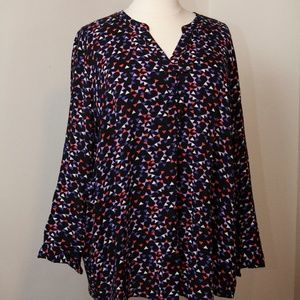 Woman Within Long-Sleeve Rayon Top Size 30/32